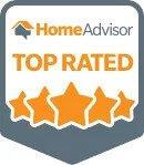 HomeAdvisor Top Rated Badge Logo